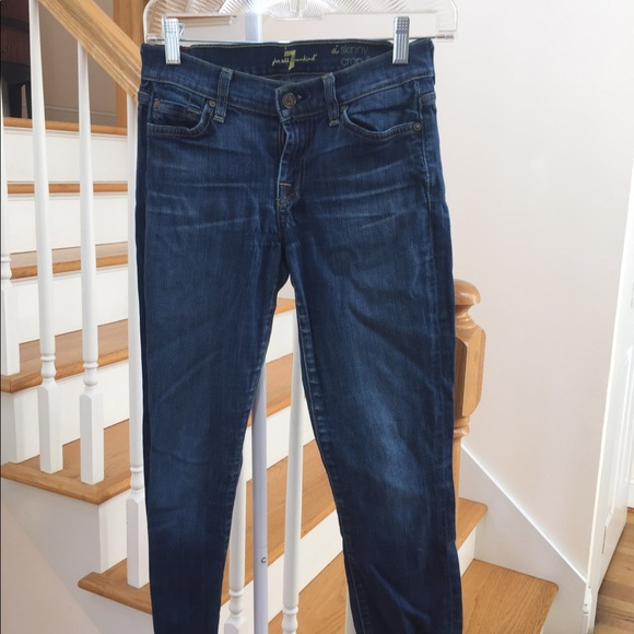 7 For All Mankind Denim - 7 For All Mankind Skinny crop & roll